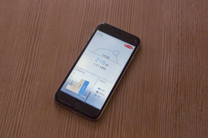 Mit der Visualisierung kann die Energiebilanz per App abgerufen werden