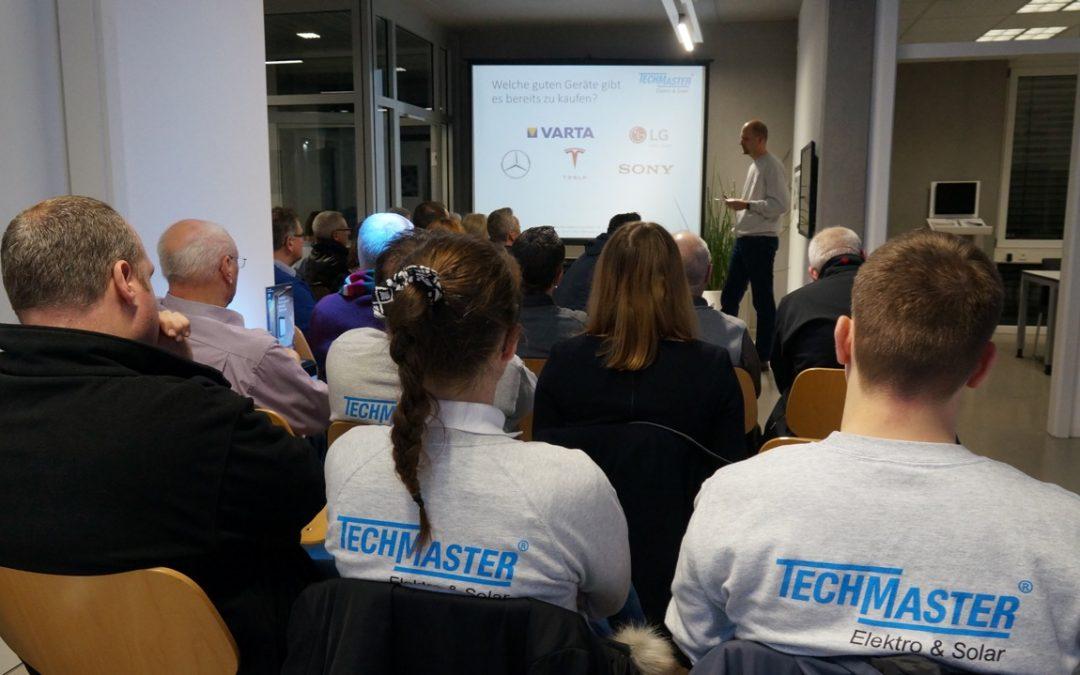 TECHMASTER-Infoabend in Hechingen: Für wen lohnt sich ein Stromspeicher?