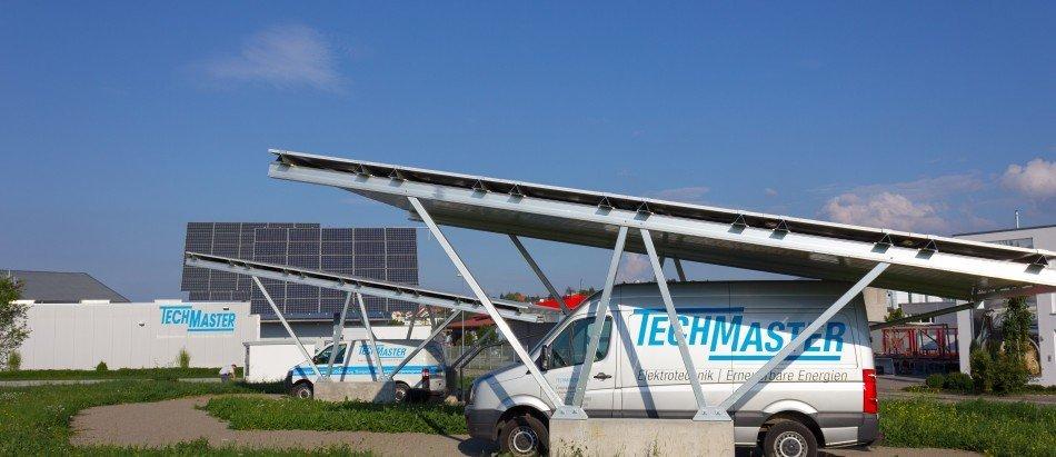 Techmaster Powerport: Solar-Carport mit knapp 10 kWp