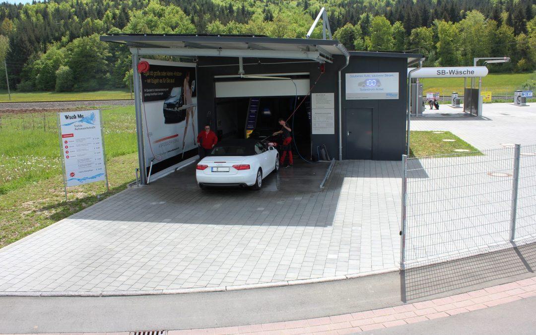"""Rangendingen: Autowaschpark """"Wash me"""" setzt auf Solarstrom"""