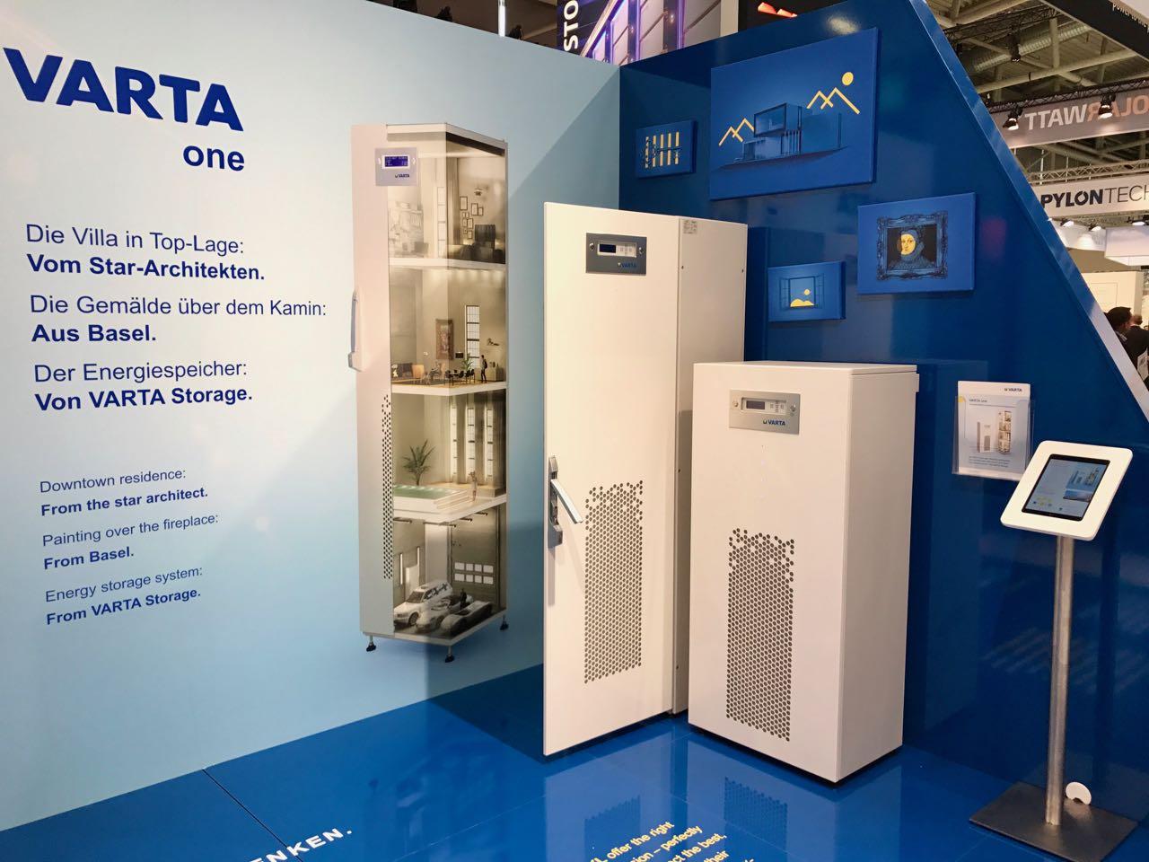 Stromspeicher von VARTA auf der Intersolar 2017