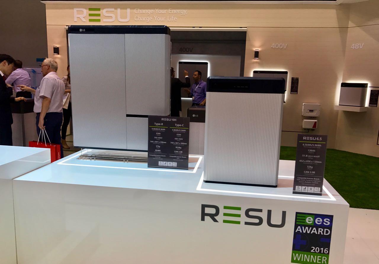 LG Chem RESU10H Hochvolt-Stromspeicher auf der Intersolar 2017