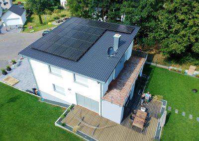 Photovoltaikanlage auf Pultdach in Bisingen