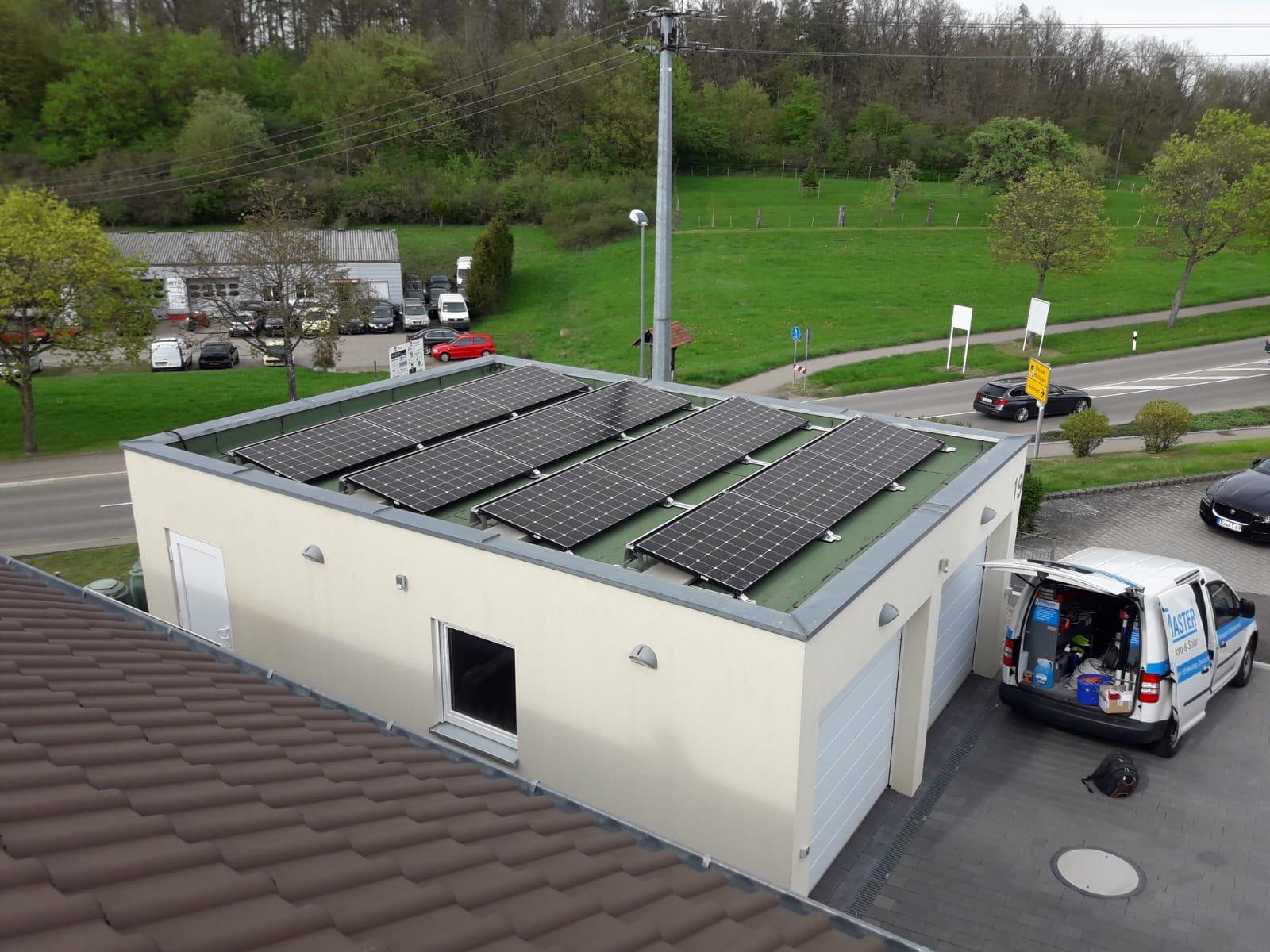 Photovoltaikanlage auf Einfamilienhaus in Bodelshausen