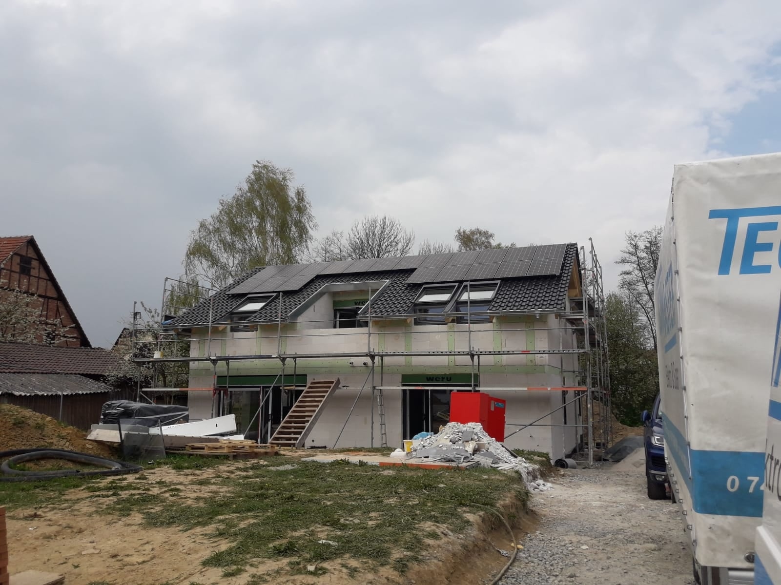Photovoltaikanlage auf Einfamilienhaus in Backnang