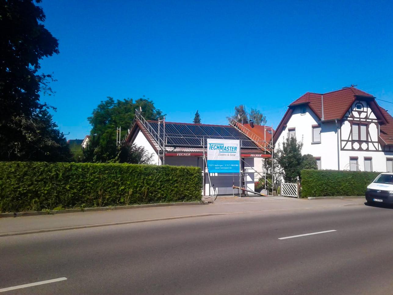 Photovoltaikanlage auf Einfamilienhaus in Hechingen