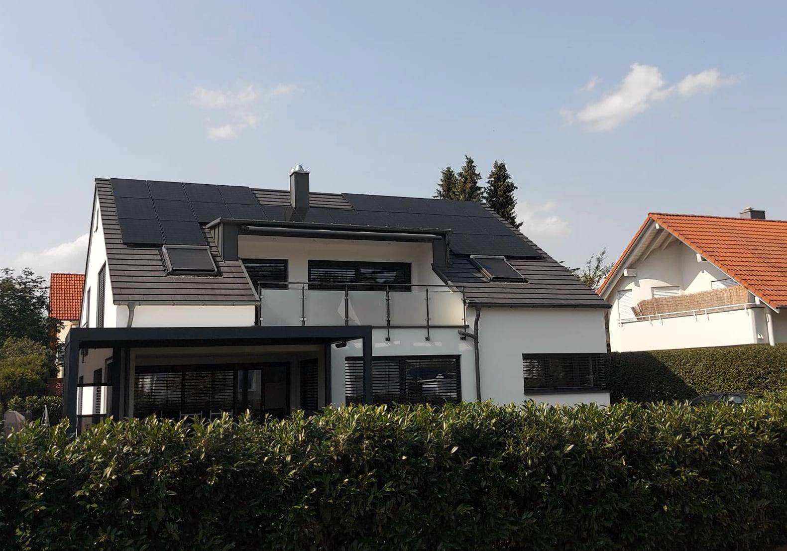 Photovoltaikanlage auf Einfamilienhaus in Kusterdingen